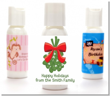 Mistletoe - Personalized Christmas Lotion Favors