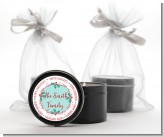 Mistletoe Wreath - Christmas Black Candle Tin Favors