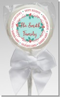 Mistletoe Wreath - Personalized Christmas Lollipop Favors