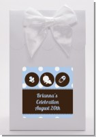 Modern Baby Boy Blue Polka Dots - Baby Shower Goodie Bags