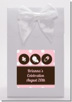 Modern Baby Girl Pink Polka Dots - Baby Shower Goodie Bags
