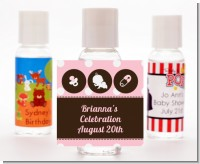 Modern Baby Girl Pink Polka Dots - Personalized Baby Shower Hand Sanitizers Favors