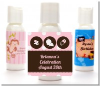 Modern Baby Girl Pink Polka Dots - Personalized Baby Shower Lotion Favors