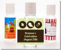 Modern Baby Green Polka Dots - Personalized Baby Shower Hand Sanitizers Favors