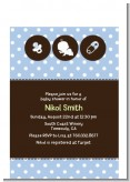 Modern Baby Green Polka Dots - Baby Shower Petite Invitations