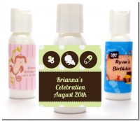 Modern Baby Green Polka Dots - Personalized Baby Shower Lotion Favors