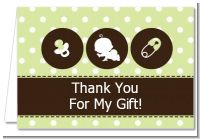 Modern Baby Green Polka Dots - Baby Shower Thank You Cards