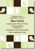 Modern Baby Green & Brown - Baby Shower Invitations