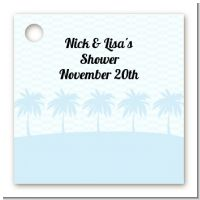 Modern Beach Blue - Personalized Bridal | Wedding Card Stock Favor Tags