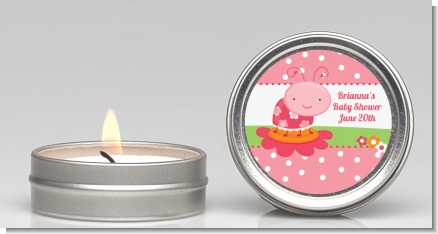 Modern Ladybug Pink - Birthday Party Candle Favors