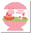 Modern Ladybug Pink - Personalized Birthday Party Centerpiece Stand thumbnail