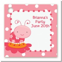 Modern Ladybug Pink - Personalized Birthday Party Card Stock Favor Tags
