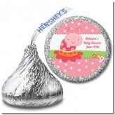 Modern Ladybug Pink - Hershey Kiss Birthday Party Sticker Labels
