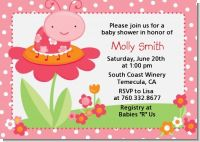 Modern Ladybug Pink - Birthday Party Invitations