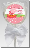 Modern Ladybug Pink - Personalized Birthday Party Lollipop Favors