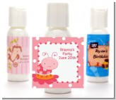 Modern Ladybug Pink - Personalized Birthday Party Lotion Favors