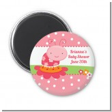 Modern Ladybug Pink - Personalized Birthday Party Magnet Favors