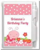Modern Ladybug Pink - Birthday Party Personalized Notebook Favor