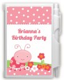 Modern Ladybug Pink - Birthday Party Personalized Notebook Favor thumbnail