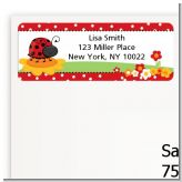 Modern Ladybug Red - Baby Shower Return Address Labels