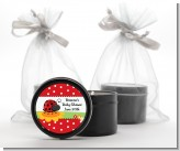 Modern Ladybug Red - Birthday Party Black Candle Tin Favors