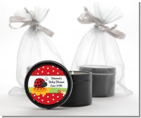 Modern Ladybug Red - Baby Shower Black Candle Tin Favors