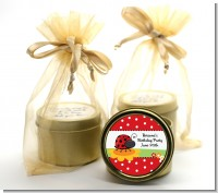 Modern Ladybug Red - Baby Shower Gold Tin Candle Favors