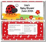 Modern Ladybug Red - Personalized Baby Shower Candy Bar Wrappers