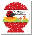 Modern Ladybug Red - Personalized Baby Shower Centerpiece Stand thumbnail