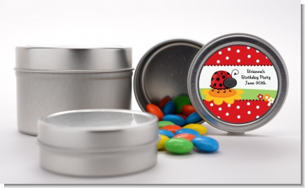Modern Ladybug Red - Custom Birthday Party Favor Tins