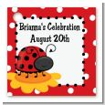 Modern Ladybug Red - Personalized Birthday Party Card Stock Favor Tags thumbnail