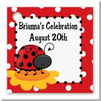 Modern Ladybug Red - Personalized Birthday Party Card Stock Favor Tags
