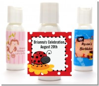 Modern Ladybug Red - Personalized Baby Shower Lotion Favors