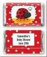 Modern Ladybug Red - Personalized Baby Shower Mini Candy Bar Wrappers thumbnail