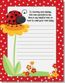 Modern Ladybug Red - Baby Shower Notes of Advice