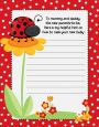 Modern Ladybug Red - Baby Shower Notes of Advice thumbnail