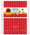 Modern Ladybug Red - Personalized Popcorn Wrapper Baby Shower Favors thumbnail