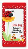 Modern Ladybug Red - Custom Rectangle Birthday Party Sticker/Labels