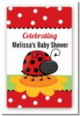 Modern Ladybug Red - Custom Large Rectangle Baby Shower Sticker/Labels