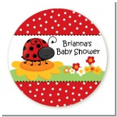 Modern Ladybug Red - Personalized Baby Shower Table Confetti