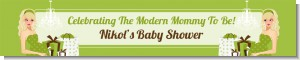 Modern Mommy Crib Neutral - Personalized Baby Shower Banners