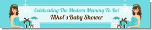 Modern Mommy Crib It's A Boy - Personalized Baby Shower Banners