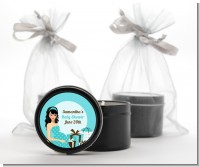 Modern Mommy Crib It's A Boy - Baby Shower Black Candle Tin Favors