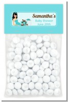 Modern Mommy Crib It's A Boy - Custom Baby Shower Treat Bag Topper