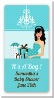 Modern Mommy Crib It's A Boy - Custom Rectangle Baby Shower Sticker/Labels
