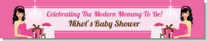 Modern Mommy Crib It's A Girl - Personalized Baby Shower Banners