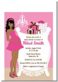 Modern Mommy Crib It's A Girl - Baby Shower Petite Invitations