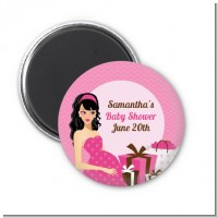 Modern Mommy Crib It's A Girl - Personalized Baby Shower Magnet Favors