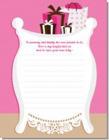 Modern Mommy Crib It's A Girl - Baby Shower Notes of Advice