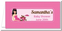 Modern Mommy Crib It's A Girl - Personalized Baby Shower Place Cards
